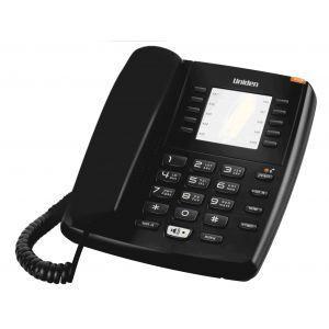 Uniden AS7301B Žični telefon sa svetlosnim indikatorom za poruke, 10 memorijskih tastera, redial tasterom, spikerfonom i mogućnošću montiranja na zid.
