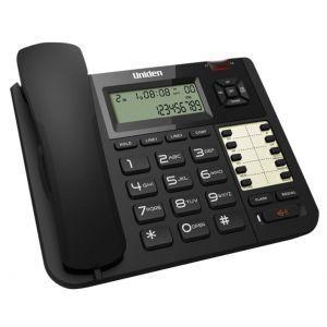 Uniden AT8502 Žični telefon sa dvolinijskim ekranom, spikerfonom, identifikacijom poziva i mogućnošću montiranja na zid, pogodan za dom, kancelariju, hotel.