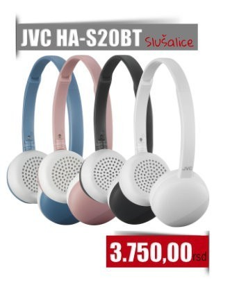JVC HA-S20BT Bluetooth Slušalice